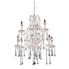 titan lighting once 9 light antique white ceiling mount chandelier