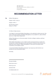 What Should Be In A Letter Of Recommendation For College Letter Of Recommendation For College Pdf Templates Jotform