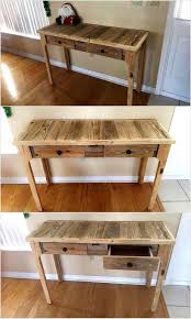 Pallet Entry Table Reusing Ideas For Used Shipping Pallets Wood Pallet Furniture