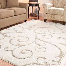 rug 4x6. 4 x 6 area rug carpet scrolling vine cream \u0026 beige shag flooring floor covering 4x6 5