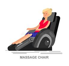 massage chair vector detailed stock vector ilration of massaging relax 71538471