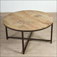 round wood metal coffee table homcom rustic industrial style frame