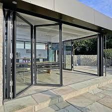 folding glass doors multiple award winner folding glass door folding frameless glass doors exterior