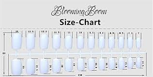 Bloomingboom 24 Pcs 12 Size Full Cover False Fake Nail