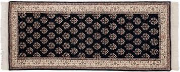 3x7 sarouk blue oriental rug runner 033701