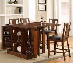 Simple Kitchen Design with High Top Drop Leaf Tables, Wine Racks Storage  Bar Table,