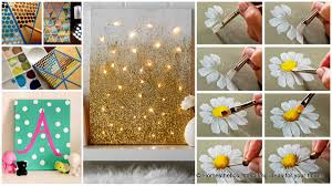 canvas painting ideas 13 diy acrylic paint projects