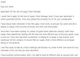 supply chain manager cove supply chain manager cover letter