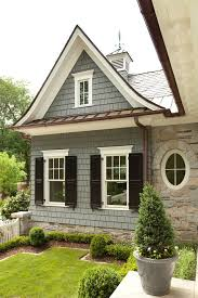 Lovely Cedar Shingle Siding, Bronze And Copper, White And Black Windows, Round  Windows, House Exterior