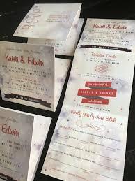 Wedding Invitation Folding Custom Wedding Invitation Accordion Fold Invitation Suite Etsy