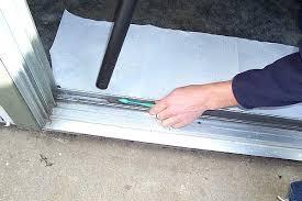 replace sliding door track repair amusing patio sliding door patio door cool patio sliding door