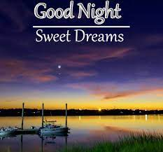 Good Night image with MOON over river and beautiful sunset - PIX Trends