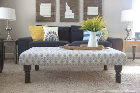 decoration in fabric coffee table with diy tufted fabric ottoman from an old table make it and