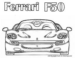 Small Picture cars coloring page F50 for Colouring Pages Kids at coloring