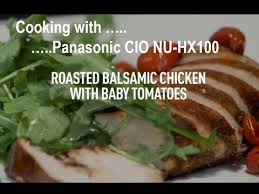 panasonic countertop induction oven nu hx100 roasted balsamic en with baby tomatoes