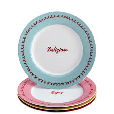 carlo's bakery  piece dessert plate set icing pattern with