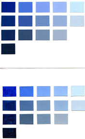 Blue Color Aid Paper and Guerra Paint Charts