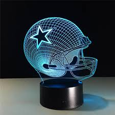 dallas cowboys helmet lamparas 3d led lamp change acrylic usb led table lamp kids gift creative night lamp home decor with 23 65 piece on