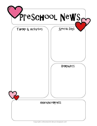 Preschool Newsletter Template Preschool Newsletter Template Preschool newsletter templates 2