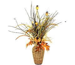 Basket Flower Decoration Custom Basket Weave Silk Flower Arrangement Large Table