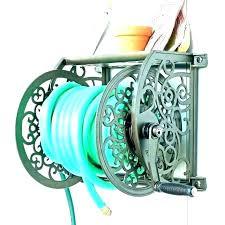 aluminum hose reel costco wall mount decorative holder cast iron big flower l garden mounted