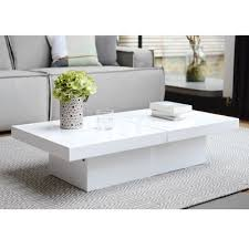 two block storage coffee table white
