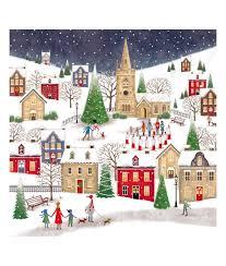 Photo Christmas Card Village At Christmas Bi Lingual Christmas Card Pack Of 10