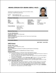 Free Pdf Resume Resumes Free Download Pdf Format On Resume Template