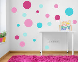 Spot Decals Pink Turquoise Aqua Polka Dot Wall Stickers Nursery Baby Room  Girls Kids Bedroom Spots