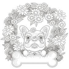Small Picture Adorable Bulldog Coloring Page Vector Art Thinkstock