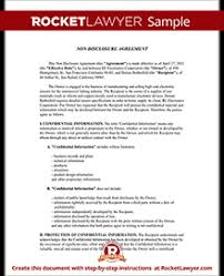 Confidentiality Agreement Samples Nda Form Free Ohye Mcpgroup Co