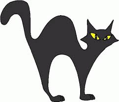 halloween cat clipart black and white. Exellent Black Cute Halloween Cat Clipart Panda Free Images Inside Black And White