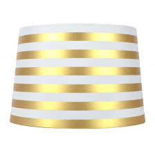 white gold lamp shade and striped in drum black shades with lining parchment chandelier silver or sizes high tall grey large for table lamps floor