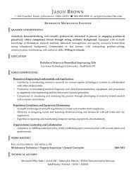 Resume Format For Quality Engineer Mechanical Engineer Resume Examples Emelcotest Com