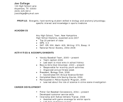 How To Write Resume With No Experiencer Achievements High School