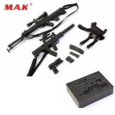 <b>1/6 Scale Soldier Figure</b> Weapon <b>Accessories</b> Distressed Sniper ...