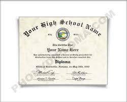 high school diploma name northeast states fake high school diploma printed with the designs