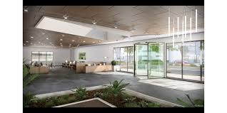 assa abloy rd300 all glass revolving door in office