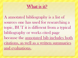 How To Make An Annotated Bibliography Ppt Download