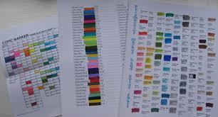 Prismacolor Art Markers Color Chart Prismacolor Marker Color Chart The Frugal Crafter Blog