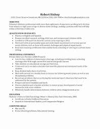 Nanny Resume Sample Awesome Live In Contract Template Lovely Job Of ...