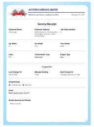 Receipt Layout Car Service Receipt Template Pdf Templates Jotform