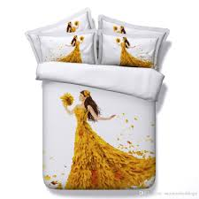 3d romantic maple leaves duvet cover bedding sets yellow bedspreads holiday quilt covers bed linen pillow covers flowers comforter cover king size duvet set