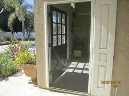 exterior view retracted single retractable screen door sherman oaks