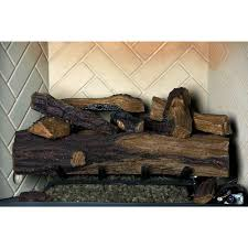 appalachian oak vented natural gas fireplace log set with remote garden outdoor
