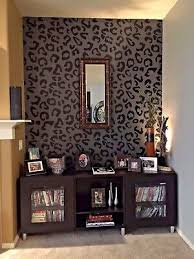 leopard print wall decal animal print