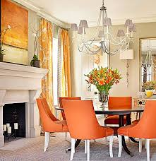 Orange is the New Black, Catherine Austin, dining room, interior design,  orange