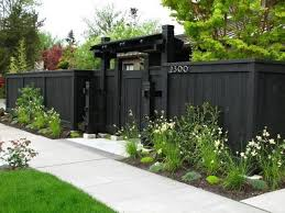 fence wooden privacy fence painted charcoal28