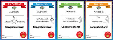 Certificates And Rewards Phonics Hero