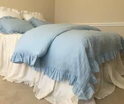 innovation idea ruffled duvet cover blue ruffle handcrafted by superior custom linens bedding canada king set bed
